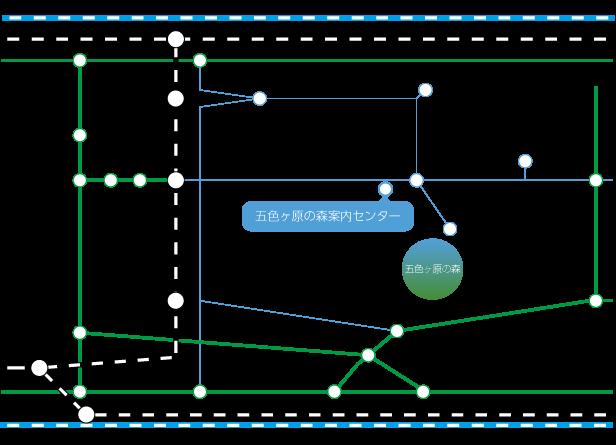 五色ヶ原までのアクセスマップです