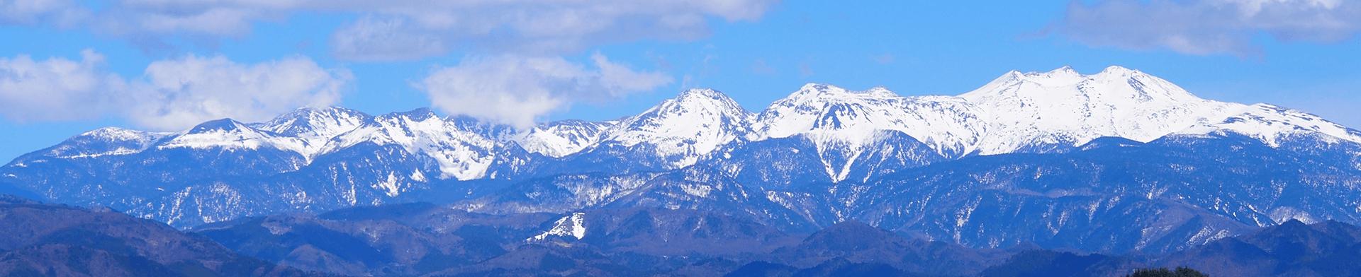 高山市街地から見た乗鞍岳